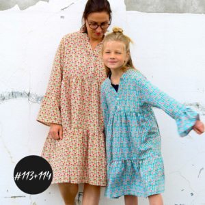 SET #113+114 Willow Dress / Blouse Girls+Women  eBook + Video