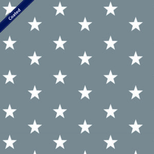 """Beschichtete Baumwolle/ Wachstuch """"BIG STARS"""" grau/weiß"""