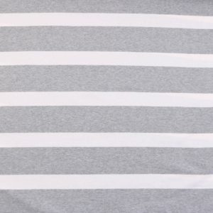 """Jersey """"breton Stripes""""  in grau-melange/weiß"""