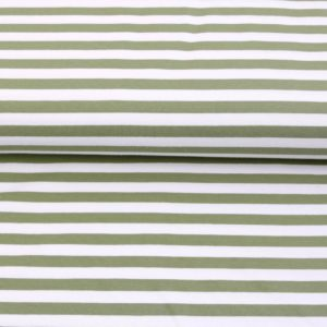 """Sommer-Sweat/ French Terry  """"solid Stripes""""  in pistazie/weiß"""