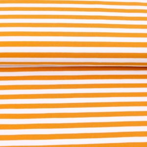 """Sommer-Sweat/ French Terry  """"solid Stripes""""  in eidottergelb/weiß"""