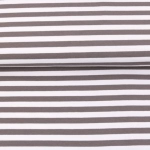"""Sommer-Sweat/ French Terry  """"solid Stripes""""  in mittelgrau/weiß"""