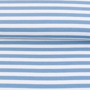 """Sommer-Sweat/ French Terry  """"solid Stripes""""  in taubenblau/weiß"""