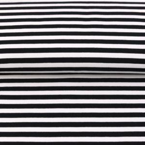 "Sommer-Sweat/ French Terry  ""solid Stripes""  in schwarz/weiß"