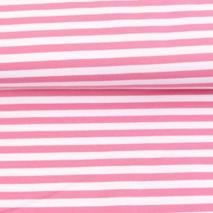 """Sommer-Sweat/ French Terry  """"solid Stripes""""  in rosa/weiß"""