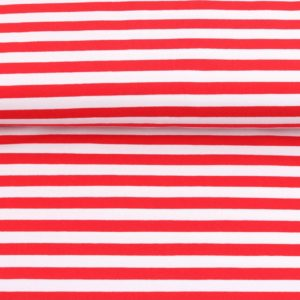 """Sommer-Sweat/ French Terry  """"solid Stripes""""  in rot/weiß"""