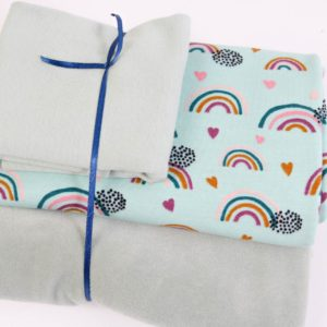 "Stoff-Paket Nicky ""Rainbow""  in soft-mint"