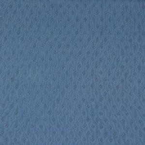 feiner Pointoille Jersey mit Lochmuster in taubenblau