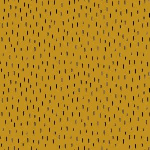 "Jersey ""black sprinkles"" in soft-mustard/schwarz"