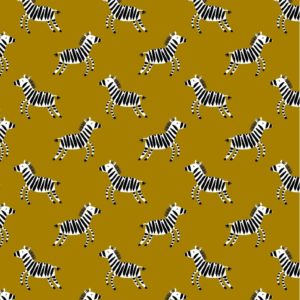 "Kuschel-Sweat ""Zebra""  in mustard"
