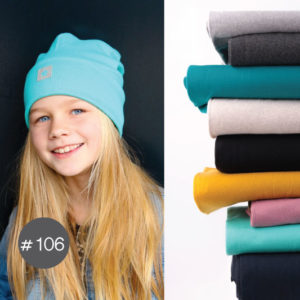 "SEWING-KIT Stoff+ GRATIS eBook Schnittmuster ""Skater-Beanie"" KU: 48-53  (Farbe wählbar)"