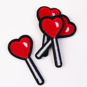 """PATCH"""" """"Heart-Lollypop"""" 7×3 cm   (Nr.12)"""
