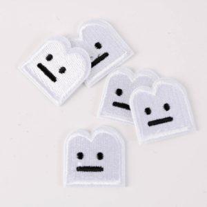 "PATCH"" ""Smiley"" white  2,5×2,5 cm   (Nr.14)"