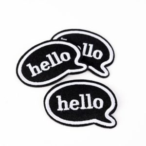 "PATCH"" ""hello""   5×4 cm   (Nr.16)"