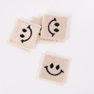 "PATCH"" ""happy Smiley"" soft-sand 3×3 cm   (Nr.25)"