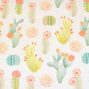 """Jersey """"Cactus Field""""   in ecru"""