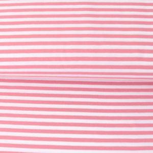 "Jersey ""midi Solid-Stripes""  rose/weiß"