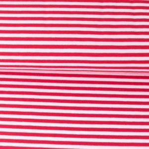 """Jersey """"midi Solid-Stripes""""  rot/weiß"""