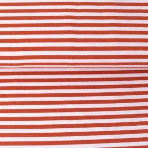"""Jersey """"midi Solid-Stripes""""  terra/weiß"""