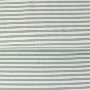 "Jersey ""midi Solid-Stripes""  pistazie/weiß"