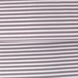 """Jersey """"midi Solid-Stripes""""  grau/weiß"""