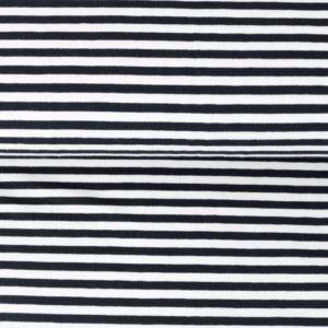"Jersey ""midi Solid-Stripes""  schwarz/weiß"