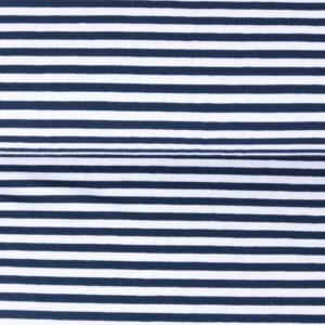 """Jersey """"midi Solid-Stripes""""  marine/weiß"""