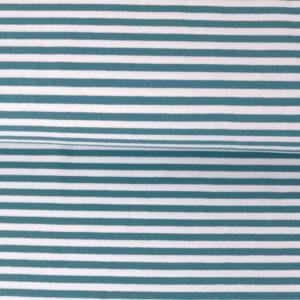 """Jersey """"midi Solid-Stripes""""  soft-blue/weiß"""