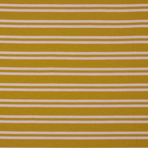 "Angebot! Jersey ""Retro-Stripes""  in senf/ rose"