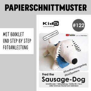 #122PP Papierschnitt Fred the Sausage-Dog + Booklet