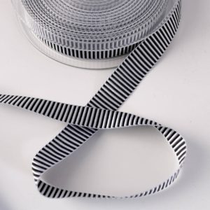 "'Webband ""Piano Stripe"" in schwarz/weiß"
