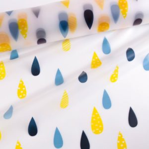 "leichter Rain coat fabric ""DROPS-transparent"" *Regenmantelstoff*"
