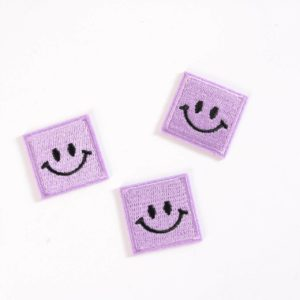 "PATCH"" ""happy Smiley"" lavender 3×3 cm   (Nr.26)"