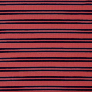 "Angebot! Jersey ""Retro-Stripes""  in koralle/ marine"