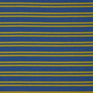 "Angebot! Jersey ""Retro-Stripes""  in  mittelblau/ soft yellow"