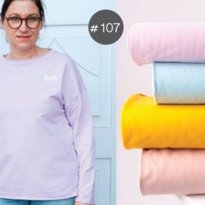 "SEWING-KIT Stoff+Bügelbild ""Spring-Sweater"" Women   (Farbe wählbar)"