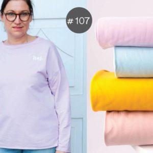 "SEWING-KIT Stoff+Bügelbild+eBook ""Spring-Sweater"" Women   (Farbe wählbar)"