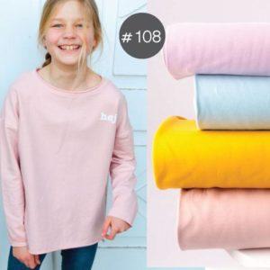 "SEWING-KIT Stoff+Bügelbild+eBook ""Spring-Sweater"" Kids   (Farbe wählbar)"