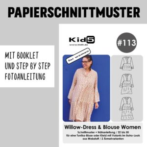 #113PP Papierschnitt Willow-Dress and Blouse Women + Booklet