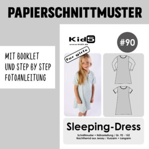 #90PP Papierschnitt Sleeping Dress + Booklet