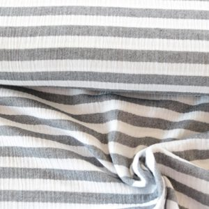 "Musselin / Double Gauze ""Stripes"" in schwarz-weiß"