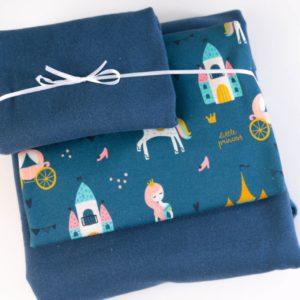 "Stoff-Paket ""Prinzessin""   in jeansblau"