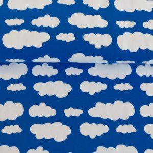 """Jersey """"Wolken """"royal/ weiß"""