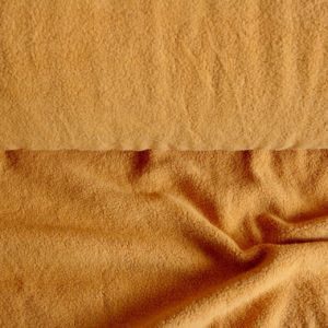 "Baumwoll-Fleece ""Sherpa"" in soft mustard"