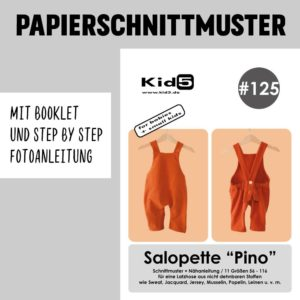 #125PP Papierschnitt Salopette PINO + Booklet