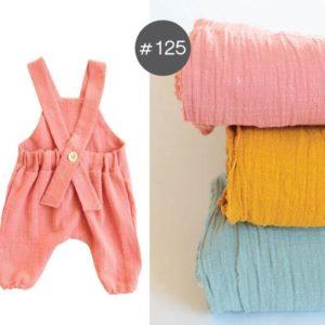 "SEWING-KIT Stoff+Material ""Salopette PINO /Baumwollstoff Slub Cotton"" Gr. 52-116  (Farbe wählbar)"