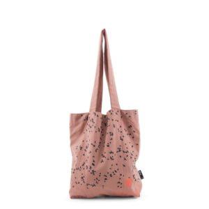 """Tinne und Mia /   Linen Tote Bag """"autumn swarm""""  in altrosa"""