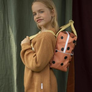 "STICKY LEMON  Kinder-Rucksack  ""DOTS""   / in faded orange"