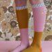 18072 – Kneehigh socks – duo tone – dusty pink + dijon