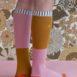 18072 – Kneehigh socks – duo tone – dusty pink + dijon – back